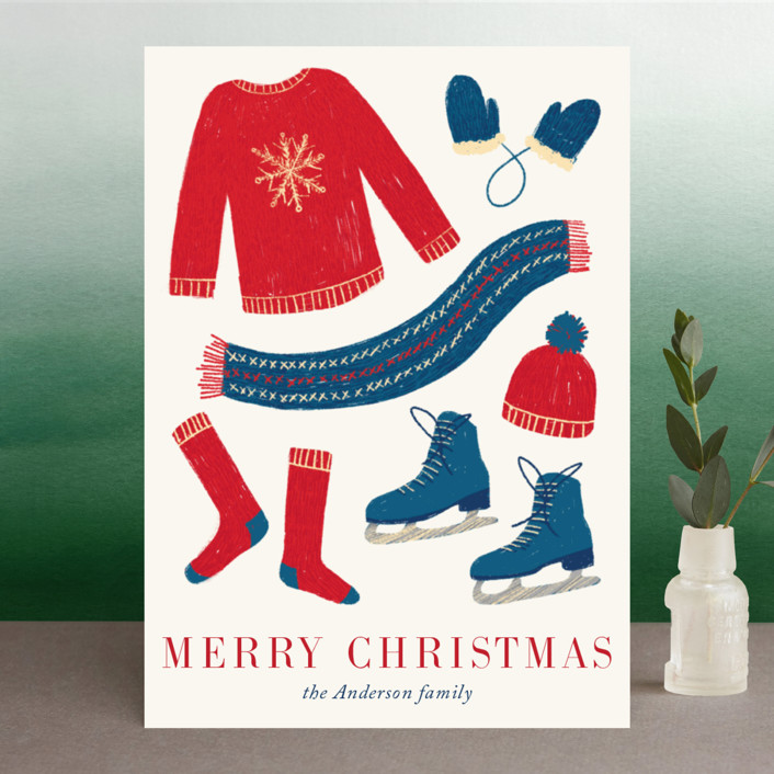 """Holiday Fun"" - Holiday Cards in Winter by Alexandra Dzh."