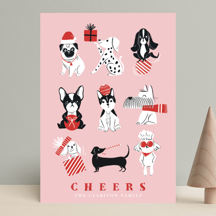 """""""Pawsome Xmas"""" - Funny Holiday Cards in Mint by Vivian Yiwing."""