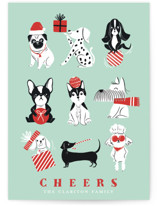 This is a green non photo holiday card by Vivian Yiwing called Pawsome Xmas with standard printing on signature in standard.