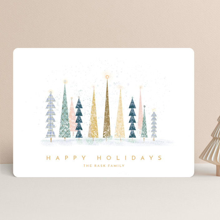 """""""Happy Holidays"""" - Vintage, Modern Holiday Cards in Snow by Laura Mitchell."""