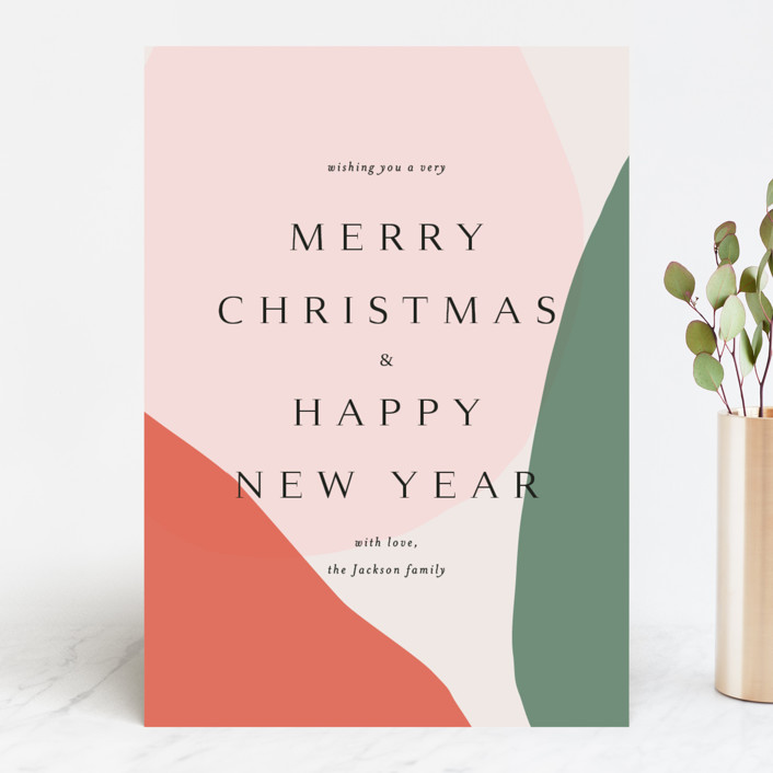 """""""Holiday Wishes"""" - Modern Holiday Cards in Tangerine by Kasia Labocki."""