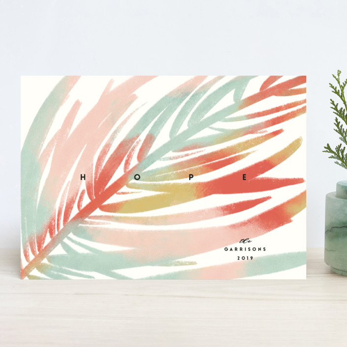 """""""Colorful Pine"""" - Holiday Cards in Rainbow by Gwen Bedat."""