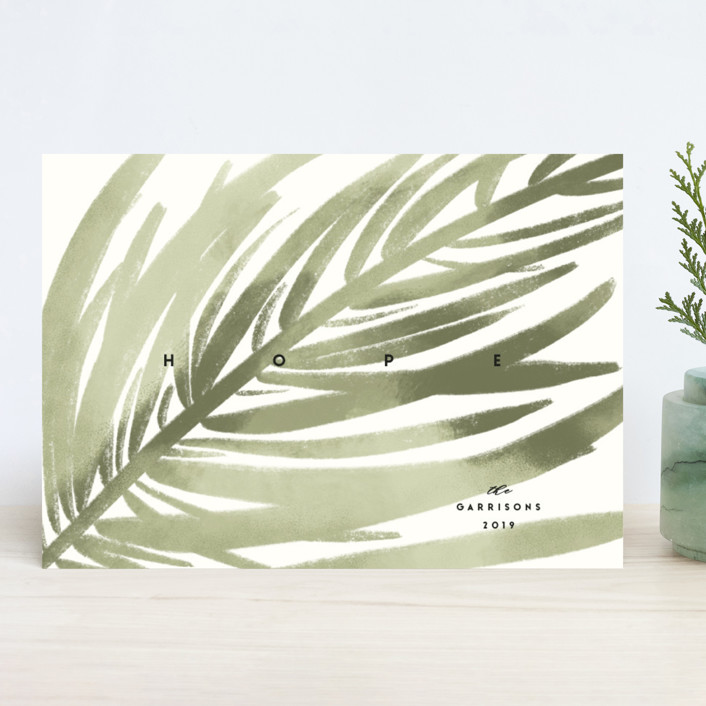 """""""Colorful Pine"""" - Holiday Cards in Fir Tree by Gwen Bedat."""