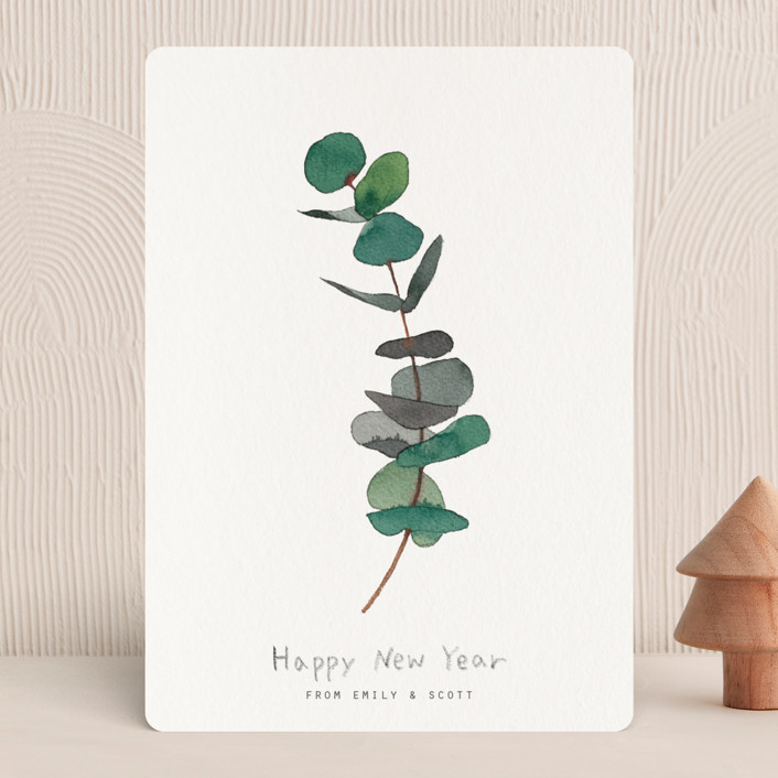 """""""eucalyptus"""" - Holiday Cards in Evergreen by jinseikou."""