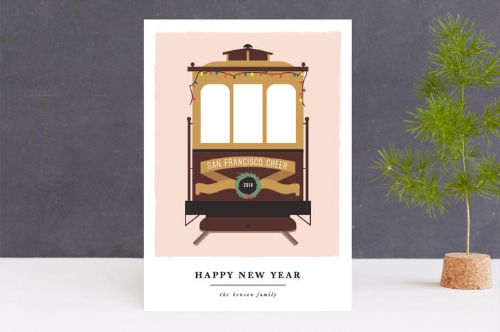 """san francisco transport cheer"" - Holiday Cards in Fresh by Sweta Modi."