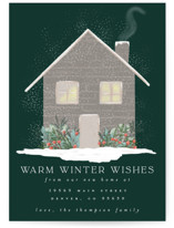This is a green non photo holiday card by Ashlee Townsend called Warm Winter Wishes with standard printing on signature in standard.