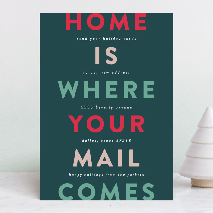New Home Send Mail Holiday Cards By Lauren Chism Minted