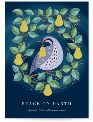 Peaceful Partridge Holiday Non-Photo Cards