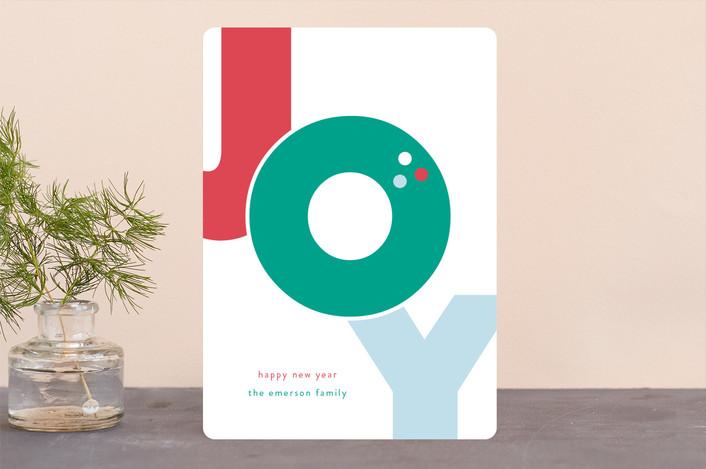 """""""Bold Joy"""" - Holiday Cards in Fruitcake by lena barakat."""