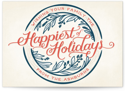 Happiest of Holidays Holiday Non-Photo Cards