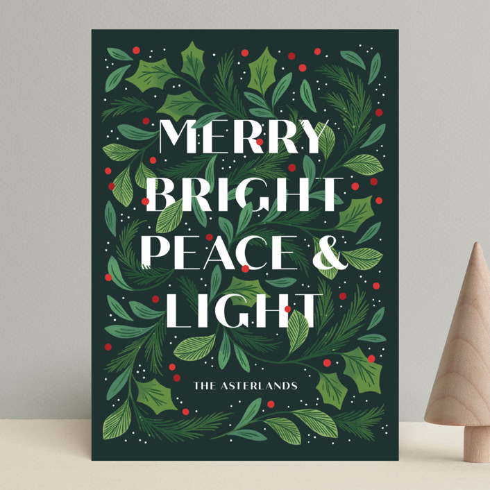 """""""Ensemble"""" - Holiday Cards in Pine by Paper Raven Co.."""