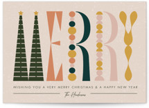 This is a green non photo holiday card by Aspacia Kusulas called wood type toys with standard printing on signature in standard.