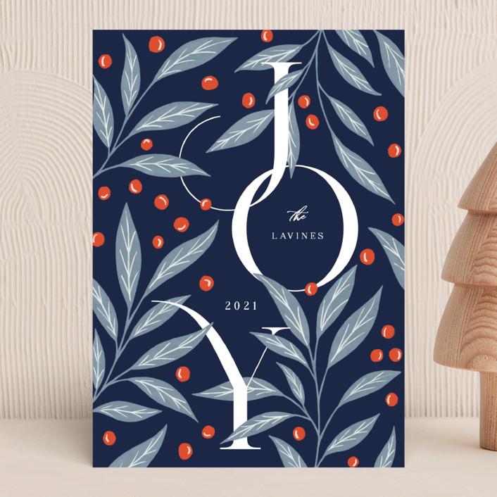 """Field Joy"" - Holiday Cards in Midnight by Yaling Hou Suzuki."