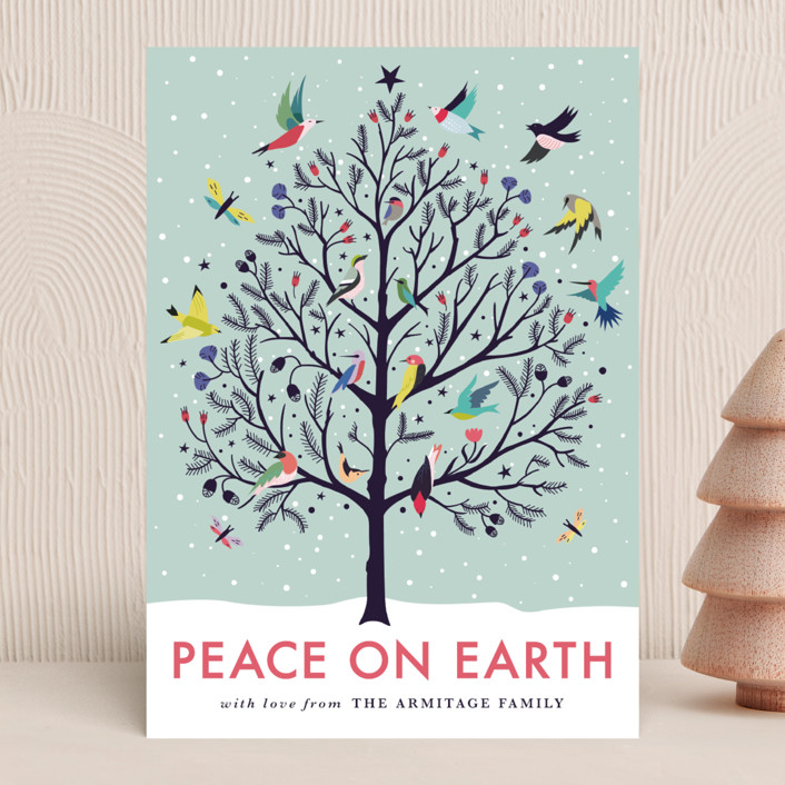 """Peace on Earth"" - Holiday Cards in Winter Sky by Eve Schultz."