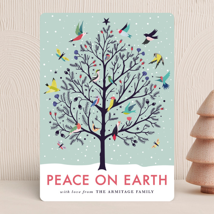 """""""Peace on Earth"""" - Holiday Cards in Winter Sky by Eve Schultz."""