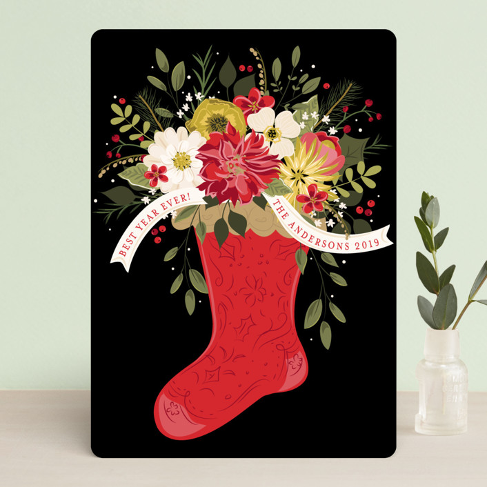"""""""Flowers for Christmas"""" - Holiday Cards in Crimson by Susan Moyal."""