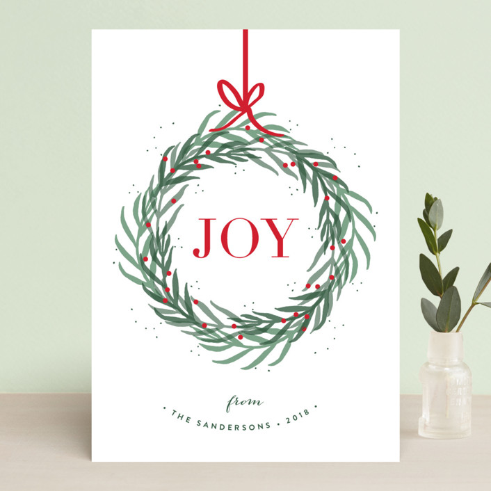 """Wreath of Joy"" - Holiday Cards in Holiday by Kelly Schmidt."