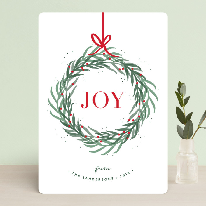 """""""Wreath of Joy"""" - Holiday Cards in Holiday by Kelly Schmidt."""