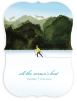 This is a blue non photo holiday card by Shannon called Season's Best with standard printing on signature in standard.