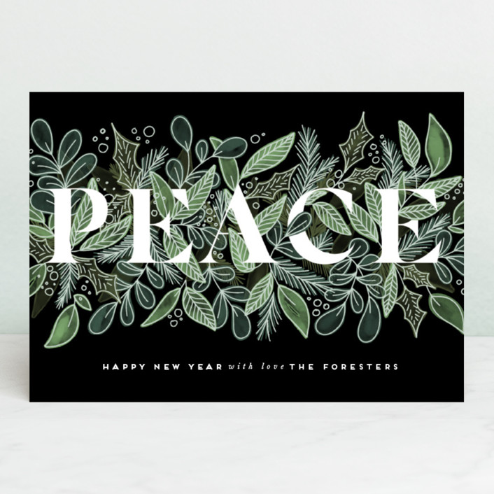 """""""Garden Of Peace"""" - Holiday Cards in Evergreen by Leah Bisch."""
