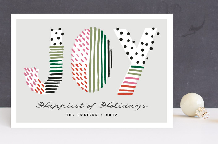 """""""Holiday Joy Doodle"""" - Modern Holiday Cards in Festive by Pixel and Hank."""