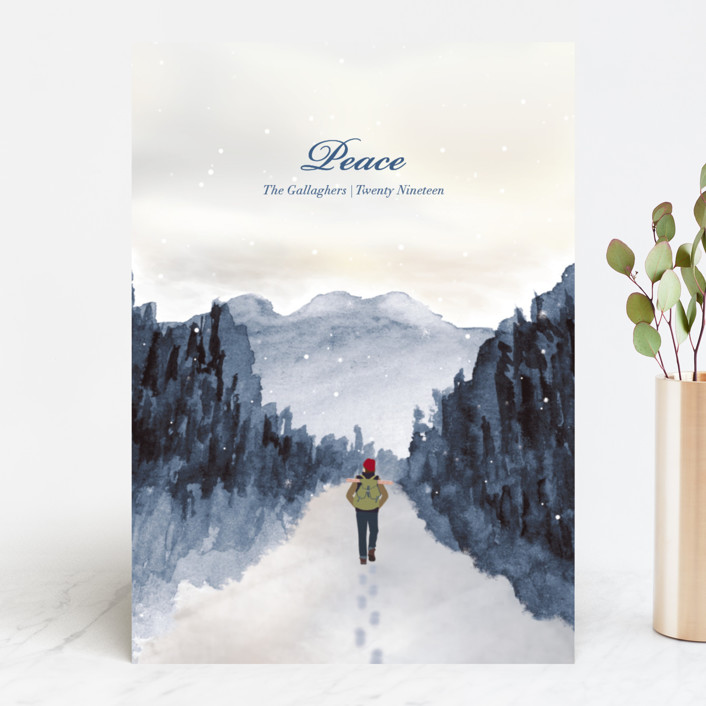 """Peace of Quiet"" - Bohemian Holiday Cards in Evergreen by Shannon."