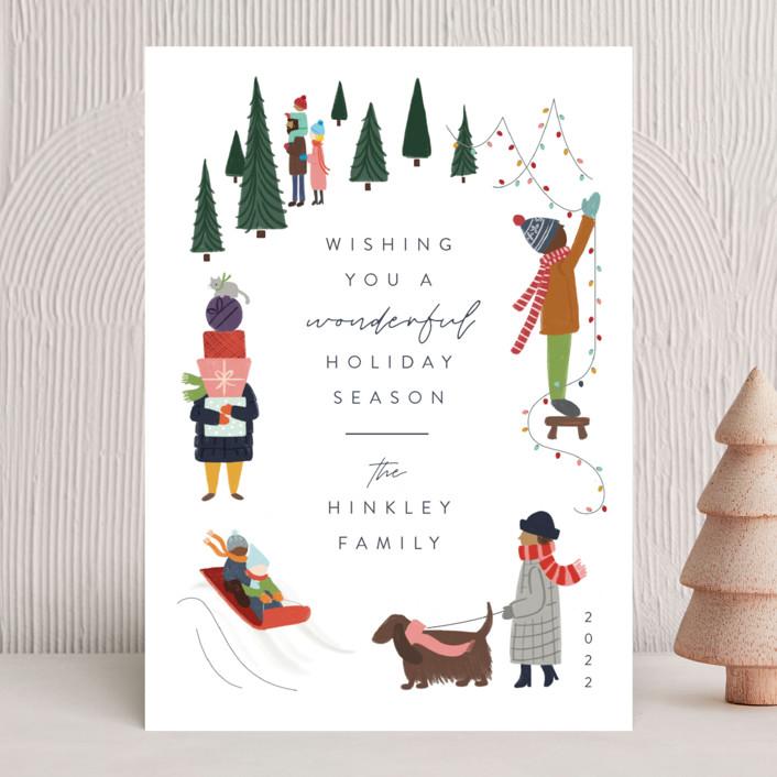 """Wonderful Season"" - Vintage Holiday Cards in Confetti by JeAnna Casper."