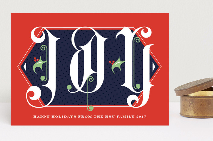 """""""Monumental Joy"""" - Vintage Holiday Cards in Poinsettia by Keen Peachy."""