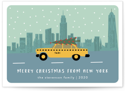 New York Christmas Holiday Non-Photo Cards