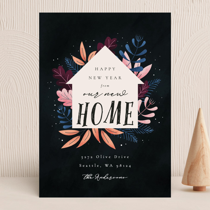 """""""Whimsical New Home"""" - Holiday Cards in Wonderland by Kann Orasie."""