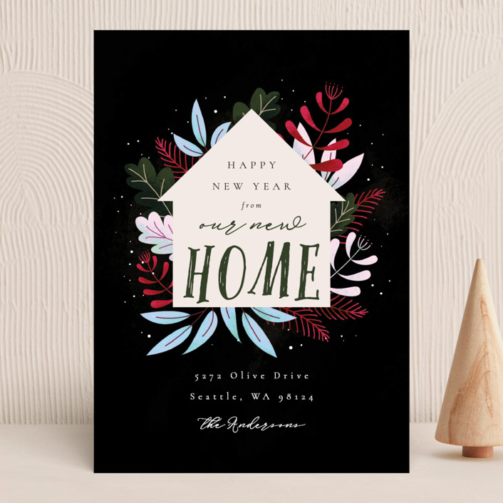 """""""Whimsical New Home"""" - Holiday Cards in Forest by Kann Orasie."""