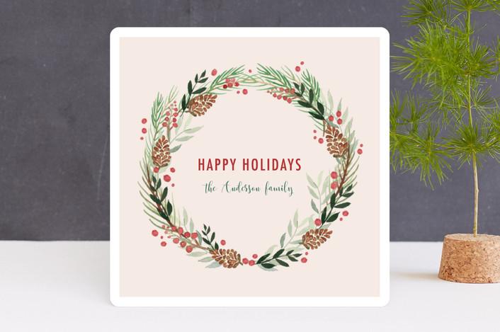 """Artful greeting"" - Holiday Cards in Crème by frau brandt."