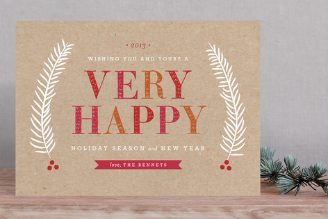 Merry Sorbet Holiday Cards