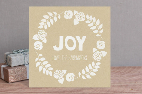 Joy Stamp Holiday Cards