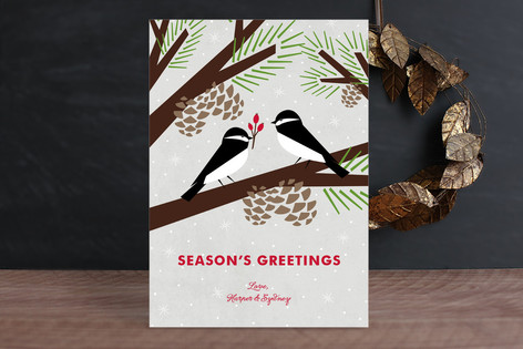 Chickadee Gift Holiday Cards