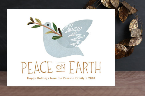 Dove and Branch Holiday Cards