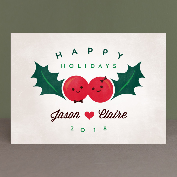 """Happy Holly"" - Vintage Holiday Cards in Mistletoe by Chryssi Tsoupanarias."