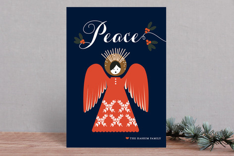 Angel + Mistletoe Holiday Cards