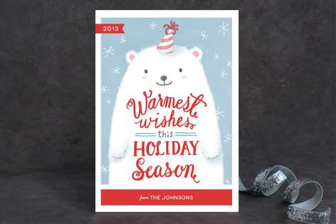 Fuzzy Polar Bear Holiday Cards