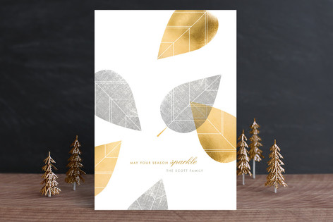 Gilded Garland Holiday Cards