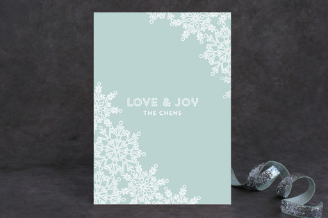 Snow Lace Holiday Cards