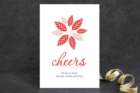Playful Poinsettia Holiday Cards