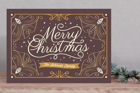 Deco Christmas Holiday Cards