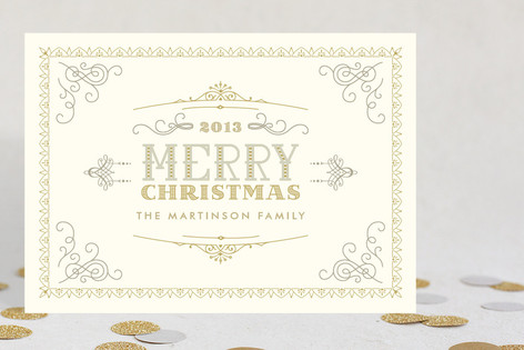 Glam Vintage Christmas Holiday Cards