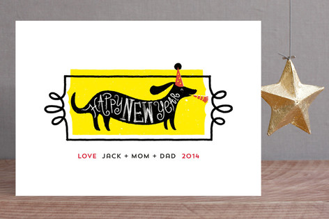 New Year Pup Holiday Cards