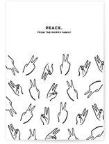 This is a white non photo holiday card by Erin Phipps called Peace. with standard printing on signature in standard.