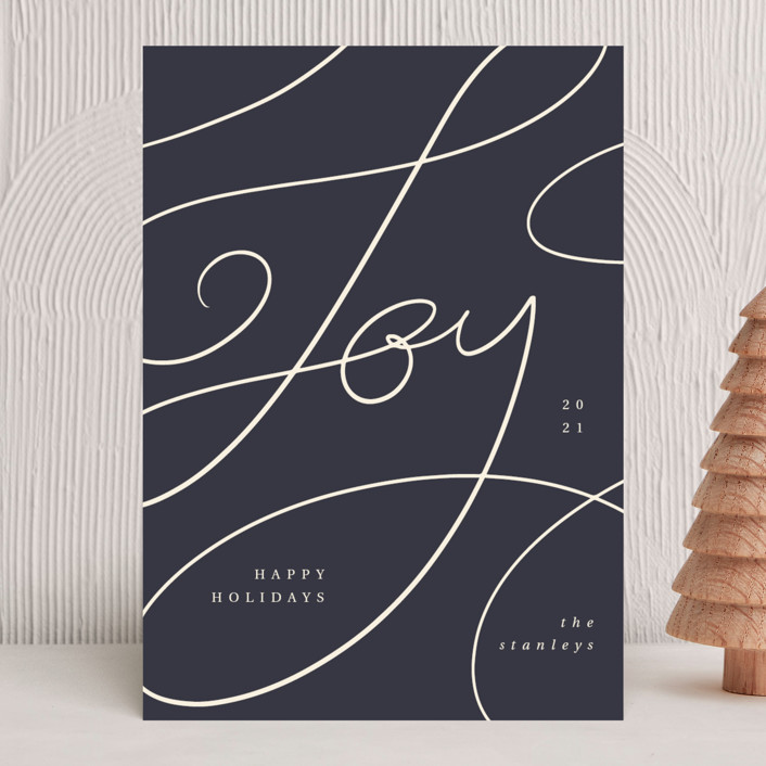 """""""Joy lettering"""" - Holiday Cards in Jam by Kann Orasie."""
