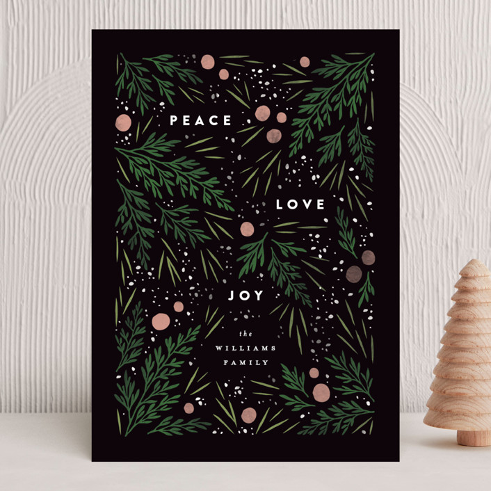 """""""Moody Flatlay"""" - Holiday Cards in Onyx by Robert and Stella."""