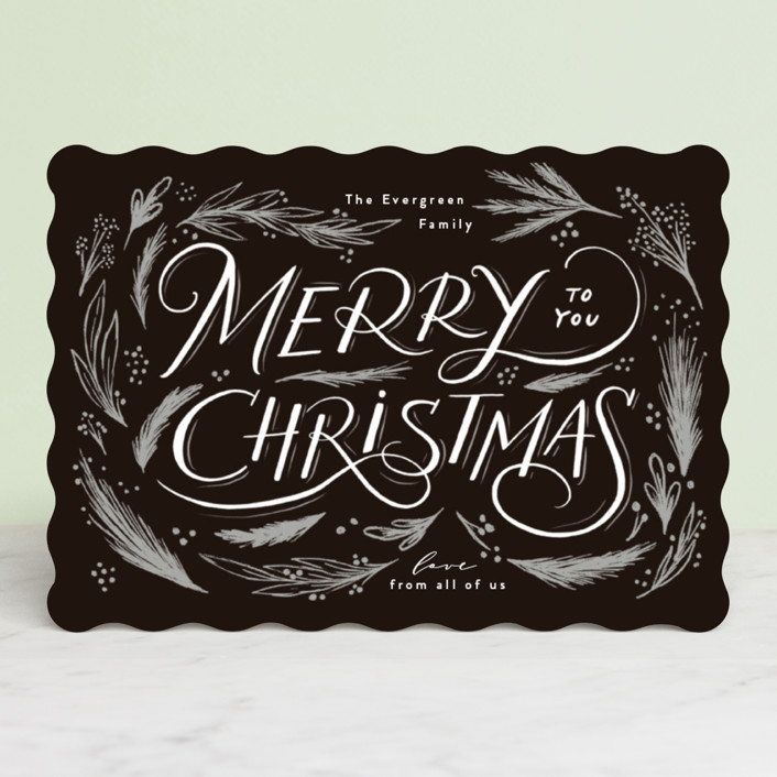 """""""madeleine"""" - Bohemian Holiday Cards in Pepper by chocomocacino."""