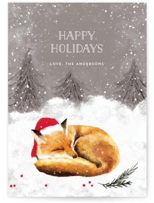 Sleeping Fox Holiday Non-Photo Cards